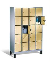 Wood locker / secure / for public buildings