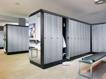 Steel locker / natural paint / for public buildings