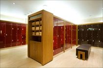 Glass locker / for wet rooms / secure