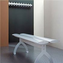 Locker room bench / traditional / aluminum