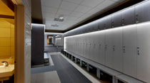 Wooden locker / for sports facilities / secure