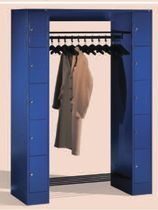 Metal locker / with open coat rack / for offices