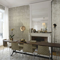 Natural cork wallcovering / residential / printed / wallpaper look