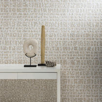Linen wallcovering / viscose / bamboo / natural fiber