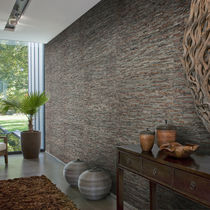 Natural fiber wallcovering / residential / textured / stone look