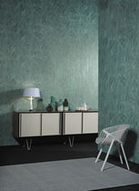 Contemporary wallpaper / natural fiber / geometric / metal look
