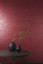 Contemporary wallpaper / fabric / natural fiber / nature pattern