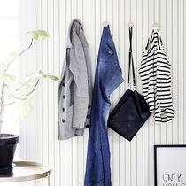 Contemporary wallpaper / striped / gray