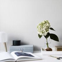Contemporary wallpaper / striped / white / gray