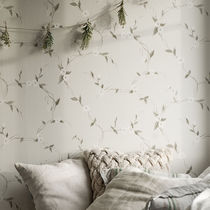 Contemporary wallpaper / floral / gray / pink