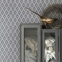 Contemporary wallpaper / geometric / gray / blue