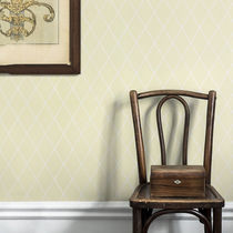 Contemporary wallpaper / geometric / yellow