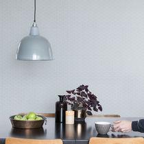 Contemporary wallpaper / geometric / white / gray