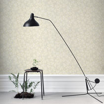Traditional wallpaper / patterned / gray / yellow