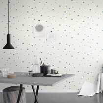 Contemporary wallpaper / patterned / white / gray