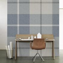 Contemporary wallpaper / plaid / gray / blue