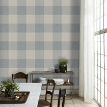 Contemporary wallpaper / plaid / gray / black
