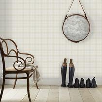Contemporary wallpaper / plaid / brown