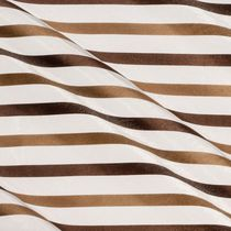 Striped sheer curtain fabric / polyester / fire-rated
