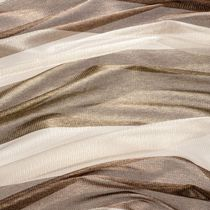 Plain sheer curtain fabric / polyester / fire-rated