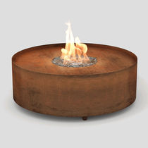 Gas fire pit / COR-TEN® steel / contemporary