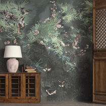 Contemporary wallpaper / floral / non-woven / washable