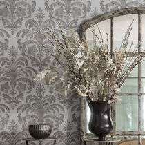 Contemporary wallpaper / patterned / gray