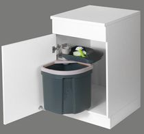 Kitchen trash can / plastic / swing / contemporary