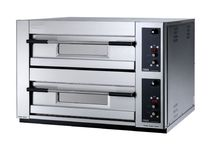 Electric oven / commercial / pizza / 2-chamber
