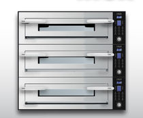 Electric oven / professional / pizza / 3-chamber