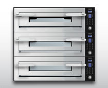 Electric oven / commercial / pizza / 3-chamber