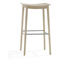 Contemporary bar stool / wooden
