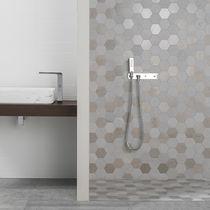 Indoor mosaic tile / bathroom / wall / floor