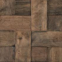 Indoor mosaic tile / wall / wooden / 3D