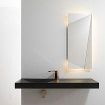 Wall-mounted mirror / contemporary / rectangular / LED-illuminated