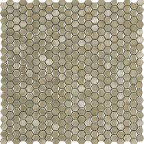 Indoor mosaic tile / wall / metal / high-gloss