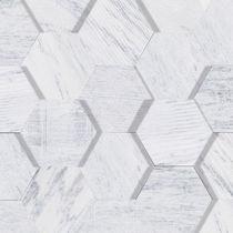 Marble stone slab / matte / cladding / white