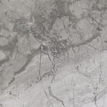 Marble stone slab / matte / for interior fittings / gray