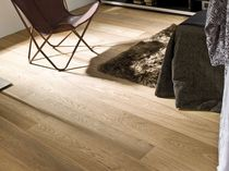 Engineered parquet flooring / glued / oak / matte
