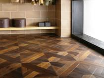 Solid wood flooring / glued / oak / oiled