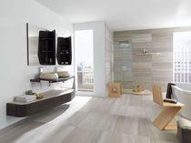 Indoor tile / wall / travertine / plain