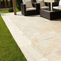 Indoor tile / floor / travertine / matte