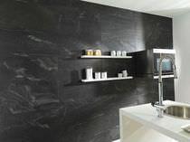 Indoor tile / wall / quartzite / plain