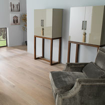Engineered parquet flooring / floating / oak / satin