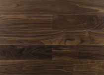 Engineered parquet flooring / floating / walnut / satin