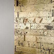 Natural stone wall cladding panel / interior / polished