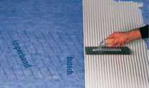 Polypropylene waterproofing membrane / for walls / adhesive