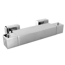 Shower mixer tap / chromed metal / thermostatic / bathroom