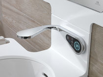 Washbasin single tap / wall-mounted / chrome-plated brass / electronic