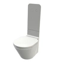 Wall-hung toilet / ceramic